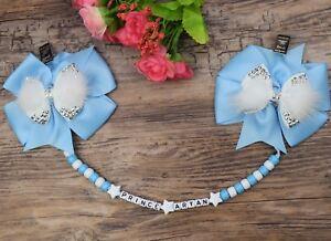 Personalised stunning pram charm in  baby blue girls boys