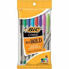 Bic Cristal Xtra Bold Pens 8/Pkg-Fashion Assorted Barrels -Msbap81
