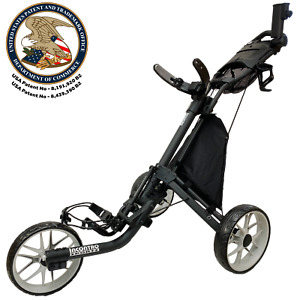Incontro Sports USA EZ Version 8 Golf Push Buggy Compact & Foldable - FREE SHIP