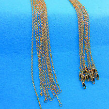 5PCS Wholesale Top Fashion Making Jewelry 18K Gold Filled Rolo Necklaces Chains
