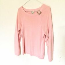 LAURA ASHLEY Pink Angora Embellished Sweater Medium Boatneck Retro 90s 80s Mom