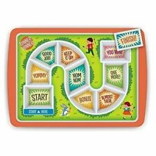 Fred Dinner Winner Kids Plate - Melamine Divided Tray Board Game Fussy Eaters