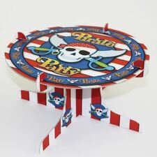 Pirate Party Children's Birthday Cake Stand Skull and Sword