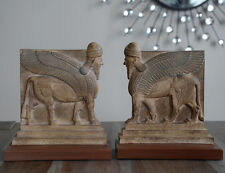 Assyrian Nimrud Palace guardians lamassu sculpture Bookends reproduction replica