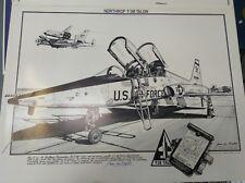 Northrop T-38 Talon Art Print 1985 Jean-Luc Beghin