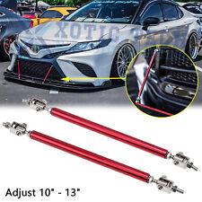 "10 "" to 13"" Red Bumper Lip Splitter Strut Rod Tie Support Bars For Toyota 86"