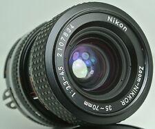 NIKON ZOOM NIKKOR 35-70mm f3.3~4.5 AiS Ai-S Lens + Caps - VERY CLEAN
