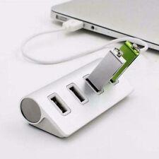 LED 4 Ports USB Multi HUB Plug Splitter Adapter Connector Durable For PC Laptop