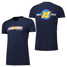 McLaren Fernando Alonso Men's F1 Graphic T-Shirt - Navy - New