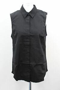 RAPHA Ladies Black Lightweight Cotton Sleeveless Cycling Collar Shirt M BNWT