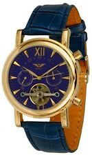 Minoir Uhren, Modell Epinal blau - Automatikuhr, Herrenuhr,neu