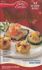 APPETIZERS BETTY CROCKER COOKBOOK JANUARY 2004 #204  BEER-CHEESE FONDUE MORE!