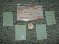 Walthers decals O Gauge Triple Extended Roman #474Y yellow letters Size 4   G20