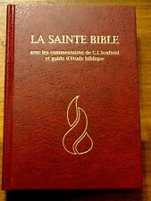 French Bible, Scofield Study Bible, Revised Segond, La Sainte Bible Hardcover