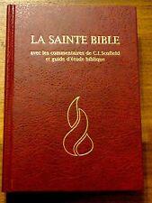 French Bible, Scofield Study Bible, Revised Segond, La Sainte Bible Hardcover