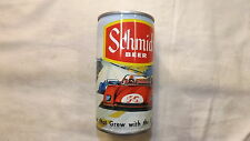 Vintage Schmidt Race Car Beer Can Steel q
