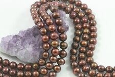 "15.5"" Cultured Freshwater Pearl Beads Potato Nugget 9-10mm BRONZE *FREE SHIPPING"