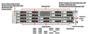SUN ORACLE SPARC X4270 M2, 2x 6-core 2.93ghz, 72gb , 12x 3TB 7.2k Rack kit