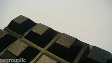 """30 Self-Adhesive Square Bumpers 0.5"""" x 0.23"""" Black Square Bumpers Feet + Samples"""