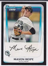 Mason Hope Miami Marlins 2011 Bowman Draft Prospects Card
