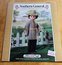 """Fibre Craft Southern General Doll Crochet Pattern #Fcm201 Guc 1989 Oop 16"""" Size"""