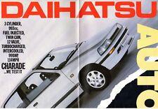 Daihatsu Charade GTti 1987-88 UK Market Poster Brochure