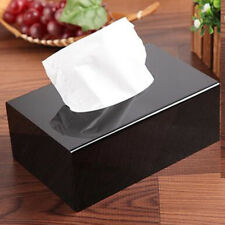 Black Shinning Acrylic Tissue Box Cover Home Decoration Rectangle