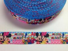 "5 Yards 7/8"" Minnie Mouse Grosgrain Ribbon Hair Bow Supplies."