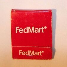 'Fedmart' Department Store vintage matchbook, CA, RARE 1970's FREE SHIPPING!