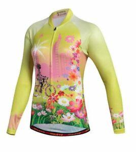 Women's Cycling Jersey Clothing Bicycle Sportswear Long Sleeve Bike Shirt J22