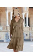 TOGETHER SHIRT KLEID TAUPE FREIZEIT GR. 42  0913500116