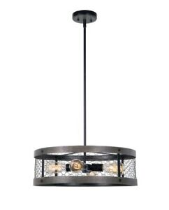 Kenroy Home 94046ORB Cozy 4-Light Oil Rubbed Bronze Pendant