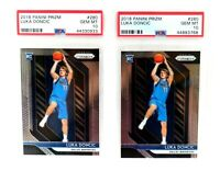 INVEST Lot of 2 - 2018-19 Panini Prizm 280 Luka Doncic RC Rookie PSA 10 GEM MINT