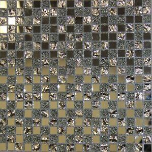 """ SILVO "" Square Mirror Glass Mosaic Tile Backsplash Tiles Bath Bar Wall Room"