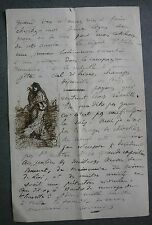 Letter Embassy of France near the St Seat Rome. Gypsy exhibition 1873