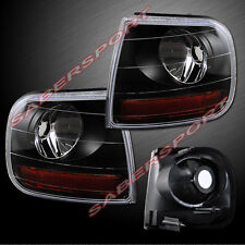 Set of Pair Black Corner Lights for 1997.8-2003 Ford F-150 / 97-02 Expedition