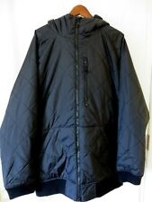 Burton Dry Ride Ski Snowboard Jacket Quilted Zip Front Hood Black XL #up9943