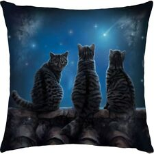Nemesis Now Wish Upon a Star Cats Cushion Lisa Parker 42cm Gothic Alternativ