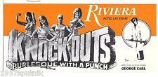 Knockouts Boxing Burlesque Riviera Las Vegas Hotel Casino brochure George Carl P