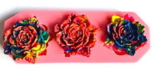 Large Rose Shape Flower Silicone Mould Fondant Cake Topper Modelling Tools
