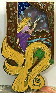 """DISNEY ACME HOT ART RAPUNZEL AP Artist Proof Rapunzel's Daydream 3"""" X 5"""" Pin COA"""