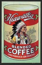 Jones Paddock Co - Hiawatha Coffee - Native American Trade Card - San Francisco