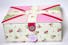 LC Designs Button It Large Union Jack Sewing Box 82307