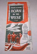 1954 Kermit Hunter's HORN IN THE WEST Daniel Theatre BOONE NC Longvue Motor Ct