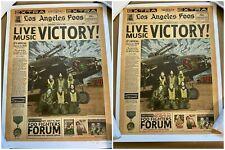 FOO FIGHTERS EMEK THE FORUM LOS ANGELES INGLEWOOD AP SIGNED NUMBERED EMBOSSED