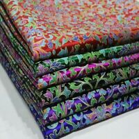 Damask Brocade Fabric Satin Retro Floral Cloth DIY Curtain Upholstery Ethnic Sew