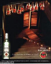 PUBLICITE ADVERTISING 085  2003  RHUM BACCARDI de CUBA