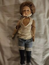 """Antique Schoenhut 14"""" Spring Jointed Wood Body Doll"""