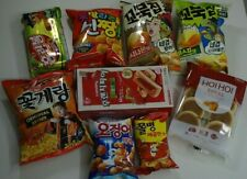korean sancks collection, chips and cookies,