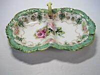 Antique Noritake Hand Painted Moriage Porcelain Nut Candy Dish NIPPON 1891-1921